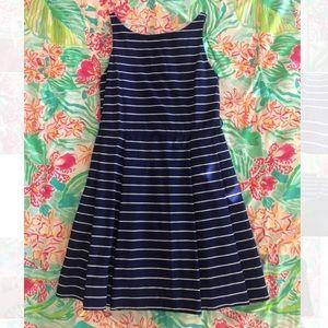 polo ralph lauren - navy blue white striped dress